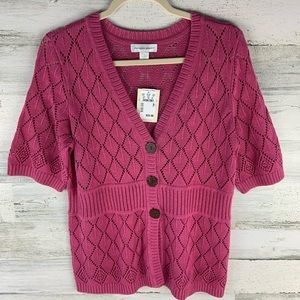 CHRISTOPHER & BANKS NWT Pink Sweater Size M